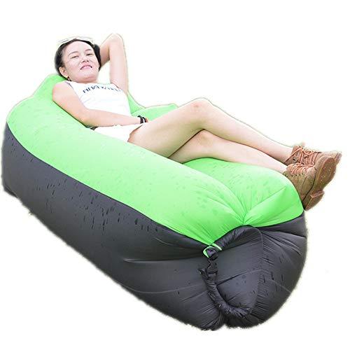 Ufblasbares Sofa Sport im Freien aufblasbaren Sofa tragbaren Camping Air Schlafsack aufblasbares Bett Aufblasbares Sofa für zu Hause (Farbe : A, Size : 240x70CM)