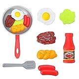 OUY Spielzeugküchen-Spielsets8PCS Kinder Küche Essen Spielzeug Simulation Bratpfanne Set Mit...