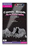 BCW Silver Comic Mylar Bags 2 Mil - Comics, Comic Books Storage Collecting Supplies, 7 1/4 X 10 1/2 50 Pack