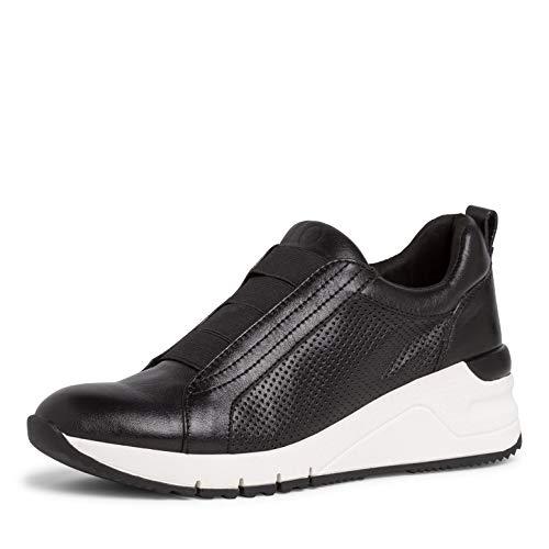 Tamaris Damen Low-Top Sneaker, Frauen Halbschuhe,lose Einlage,straßenschuhe,Freizeitschuhe,Ladies,Women's,Woman,schnürer,Black Uni,40 EU / 6.5 UK