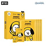 BTS X MEDIHEAL BT21 Face Point Mask Sheet + Postcard + Bookmark (04 CHIMMY)