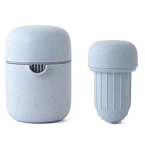 WEIFLY Entsafter Hand, Wassermelone Saft Orangensaft Schal der kleinen tragbaren Haushalt Entsafter Waschmaschine BPA, Gebraut mit Weizenstroh Biodegradable,Blau