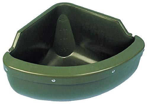 Kerbl Eck-Futtertrog 31 l komplett mit Auswurf- und Beißschutzkante