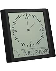 Atyhao Reloj de Pared Digital Reloj Despertador multifunción de Pantalla Grande con Pantalla de Temperatura y Humedad