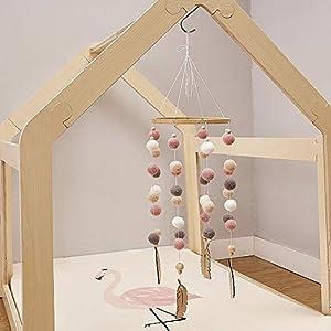 Cozyhoma - Móvil de Fieltro para Cuna de bebé, diseño de Bola de Fieltro, Ideal para Colgar en el Techo de la habitación