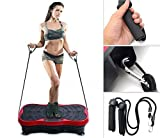 Vibration Plate Exercise Machine, 20.9x12.2' Vibration Platform with Rope Skipping Body Workout Fitness Platform Massage Machine for Home Training, Shaping and Weight Loss【US Fast Shipment】 (Black)