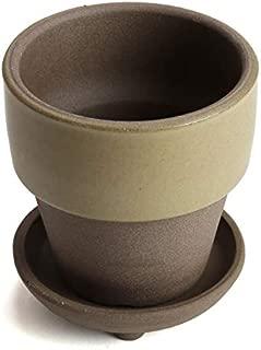 鉢 KANEYOSHI 【日本製/三河焼】 陶器 植木鉢 和ライフ モカあんず MA足付受皿 9.3cm 3号