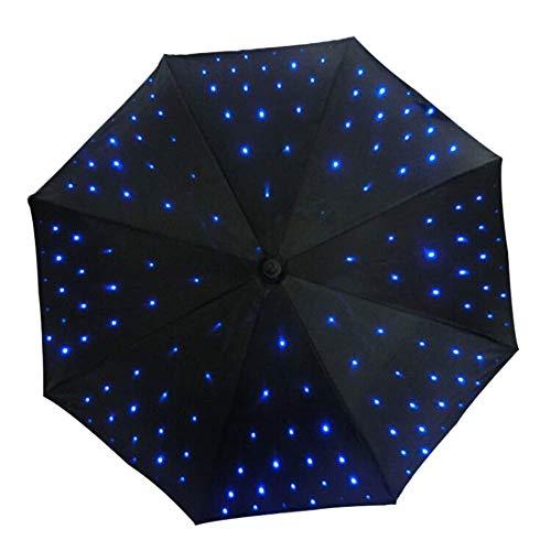 Giow Suministro de luz LED Paraguas UV con función de Linterna Paraguas Decorativo Luminoso para fotografía o decoración de Rendimiento de Escenario