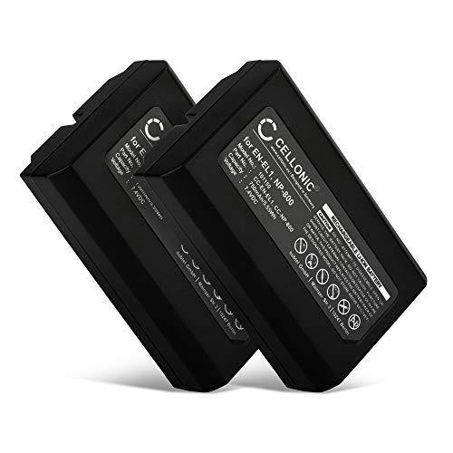CELLONIC 2X Qualitäts Akku kompatibel mit Nikon Coolpix 4300 Coolpix 4500 Coolpix 4800 Coolpix 5000 Coolpix 5400, kompatibel mit Konica Minolta DiMAGE A200 (750mAh) EN-EL1,NP-800 Ersatzakku Batterie