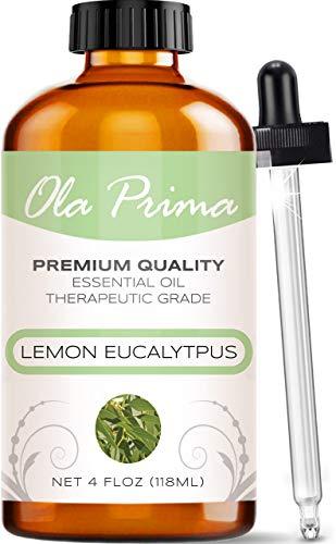 Ola Prima 4oz - Premium Quality Lemon Eucalyptus Essential Oil (4 Ounce Bottle) Therapeutic Grade Lemon Eucalyptus Oil