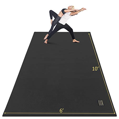 GXMMAT Extra Large Yoga Mat 10'x6'x7mm, Thick Workout Mats for Home Gym Flooring, Non-Slip QuickResilientBarefoot Exercise Mat for Pilates, Stretching, Non-Toxic, Extra Wide and Ultra Comfortable