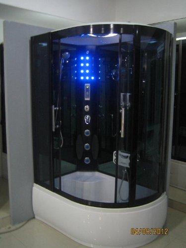 Galaxy Showers - Prospa X03 Cabina de ducha de vapor izquierda con sistema Hidromasaje Bluetooth spa 1250 x 880mm