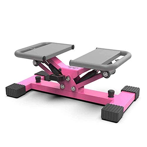 HFJKD Upgraded Stepper Machine Mini Stair Swing Stepping Legs Trainer With LED Monitor - 100Kg Weight Bearing Capacity(Pink)