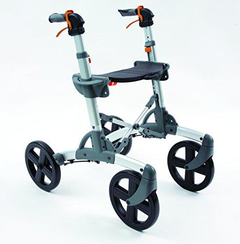 Volaris Patrol Rollator Walker [Regular Size] Premium All-Terrain Four Wheeled Walker with Seat - Lightweight Folding for Easy Storage & Travel
