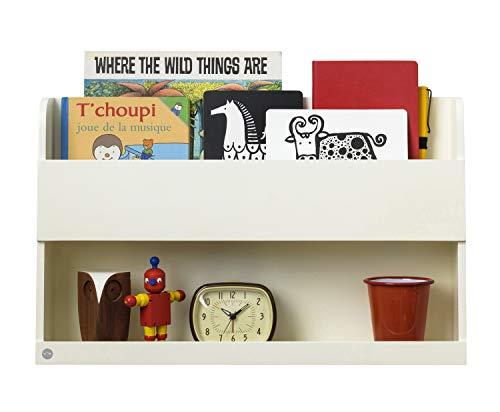 Tidy Books ® Estante para cama litera, Estanterias flotantes, Librería infantil, Madera, Color crema, 33 x 53 x 12 cm, ECO friendly, Hecho a mano, Original Bunk Bed Buddy™