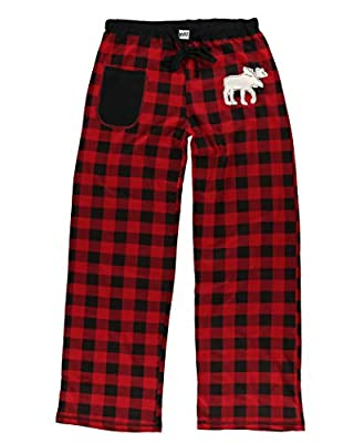 Women's Fitted Pajama Pants Bottom by LazyOne | Pajama Bottom for Women (Moose Plaid, Large) from
