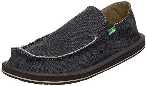 Sanuk Men's Vagabond Slip-on Shoe (45 M EU / 12 D(M) US, Charcoal)