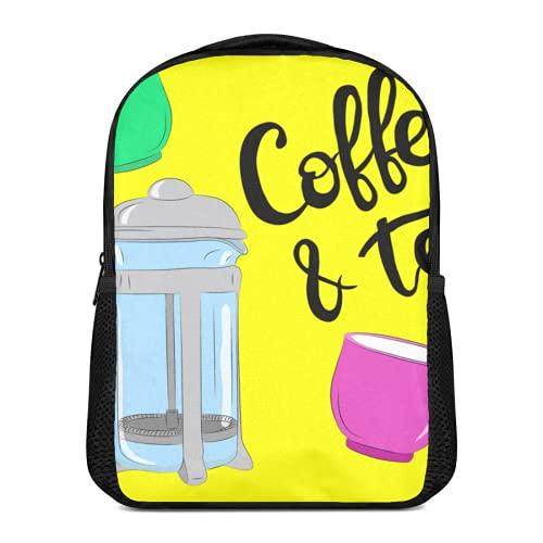 Interesante ilustración de dibujos animados mochila de ocio para niños y niñas preescolares bolsa de hombro camping viaje escuela bolsa 16L