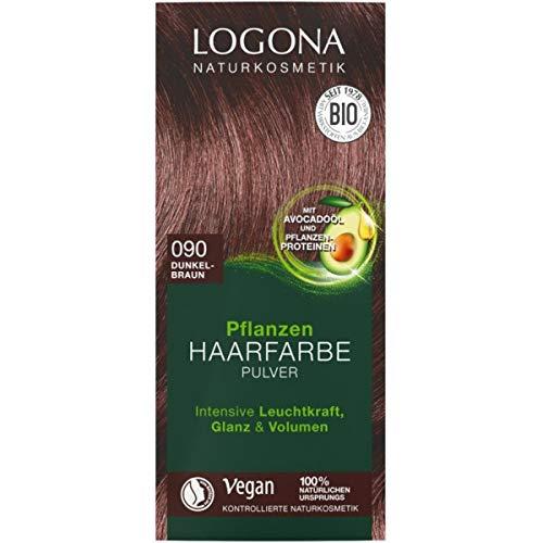 Logona Pflanzen-Haarfarbe-Pulver dunkelbraun (100 g)