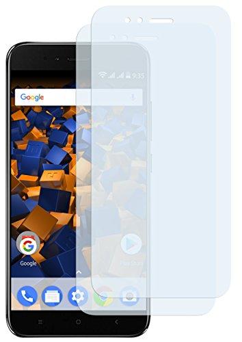 mumbi Schutzfolie kompatibel mit Xiaomi Mi A1 Folie klar, Bildschirmschutzfolie (2X)