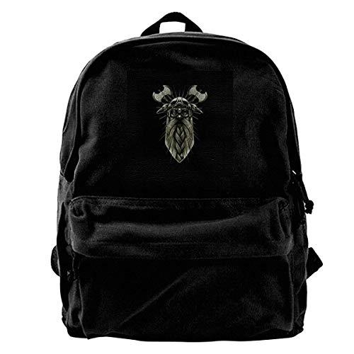 maichengxuan Leinwand Rucksack Odin Viking Mask Rucksack Gym Hiking Laptop Umhängetasche Daypack Tagesrucksack für Männer Frauen