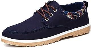 2019 Autumn Canvas Shoes Casual Shoes Men Trend Single Shoes Low to Help Casual Shoes Shoes (Color : Blue6631, Size : 42)