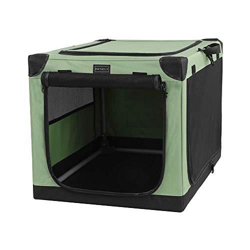 Petsfit Hundebox Faltbare Hundetransportbox Auto Transportbox für Hund & Katze Stoff mit sicherem Stahlrohrrahmen für große kleine Hunde