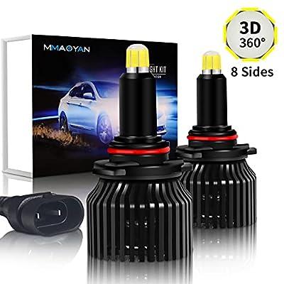 HB4 9006 LED Headlight Bulbs - 2021 Newest Super Bright 360° 8 Sides 48 CSP Chip 80W 10000LM Lighting 9006 LED Headlight Bulbs High and Low Leam, 6500K Cool White HB4 LED Headlight Bulb Conversion Kit