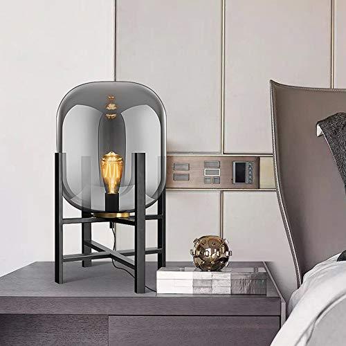 De enige goede kwaliteit Decoratie Nordic Eenvoudige Metallic Glas Lamp Slaapkamer Nachtlampje Woonkamer Slaapbank Decoratieve Lamp 1 * E27 53CM * 30CM