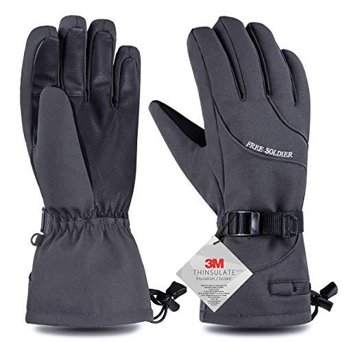 FREE SOLDIER Wintersneeuw Ski Handschoenen Waterdicht Snowboarden Nylon Shell Touchscreen Handschoenen