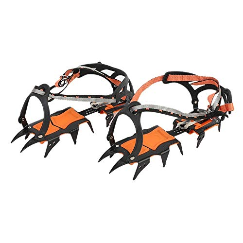 Climbing Crampons, 12 Teeth Snow Ice Claws Non-Slip Spikes Grips for Walking, Ice Fishing, Climbing, Hiking on Snow Ice