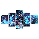 My Hero Academia Poster Anime Prints Dabi 5 Pieces Wall Decor Picture Painting Family Livingroom Decorative Posters