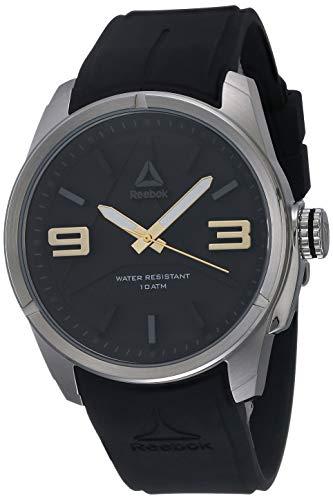 Reebok Herren Analog Quarz Uhr mit Silikon Armband RD-DEE-G2-S1IB-B2
