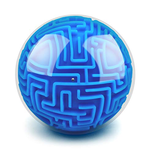 YongnKids Amaze 3D Gravity Memory Sequential Maze Ball Puzzle Toy Gifts for Kids Adults - Hard Challenges Game Lover Tiny Balls Brain Teasers Game