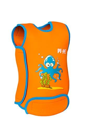 PI-PE Baby Warmer Neopren Schwimmanzug orange L (12-18 Monate)
