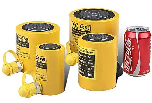 baratos y buenos Cilindro hidráulico GOLDEN WALL para botellas de 10t.  Cilindro hidráulico profesional con una carrera de 50 mm, grande … calidad