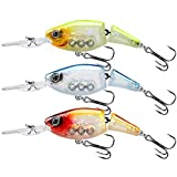 TRUSCEND Fishing Lures Diving Lip Design Suspending Jointed Crankbait with BKK Hooks All-Purpose Trolling Glide Bait for Freshwater & Saltwater Inshore Fishing Swimbaits for Bass Tout Walleye Crappie
