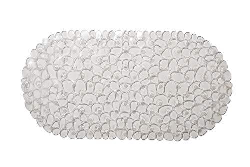 Succsale-badmat van PVC, -LGA vrij van schadelijke stoffen, afmetingen: 700 x 350 mm, transparante steen-look, AWD DESIGN
