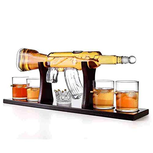 Creativo vetro bottiglia di vino Decanter Pistol Glass Big Gun Crystal Bottle Bottle Spirits Tazze Whiskey Vodka Bere tazze per bar a casa Transparent