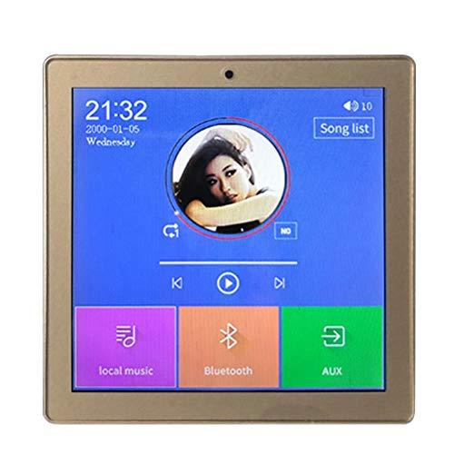 KDLK Home Multimedia Mini Bluetooth Amplificador De Pantalla De Audio De Pared 24 Canales Inalámbrico Centro De Música Sistema De Cine De Sonido Tableta USB (Color : Gold)