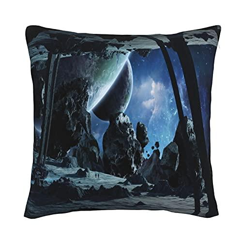 Mxswru Star Wars - Funda de cojín cuadrada decorativa de terciopelo, funda de almohada de 26 x 26 pulgadas, para sofá cama, sofá con cremallera invisible