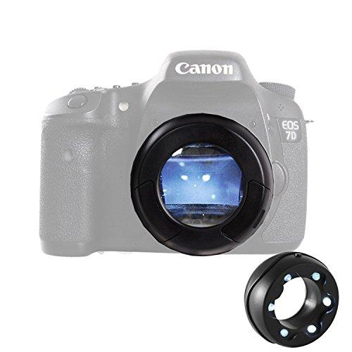 Micnova MQ-7X Sensorlupe mit 7-Facher Vergrößerung und 6 Hellen LEDs für Canon 6D 600D 5D2 5D3 Nikon D800 Sony Panasonic DSLR Kamera
