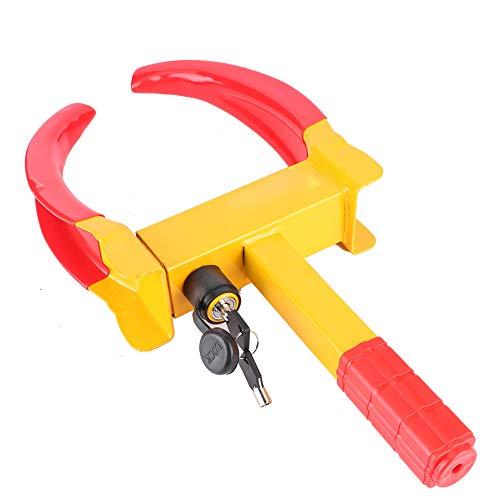 Yosoo Health Gear Anti-theft Whell Lock, Heavy Duty Car Motorhome Trailer Wheel Security Clamp Caravan Wheel Clamp Lock with 2 Keys for ATV'S Boats Trailers Motorcycle Truck