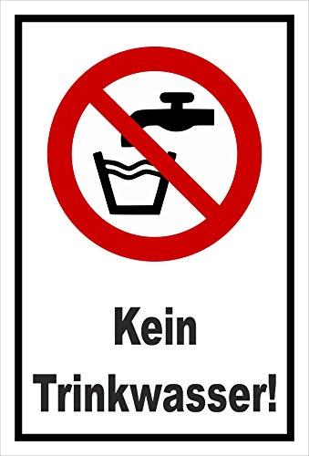Melis Folienwerkstatt Schild - Kein Trinkwasser - 15x10cm - 3mm Hartschaum – S00355-015-A 20 VAR