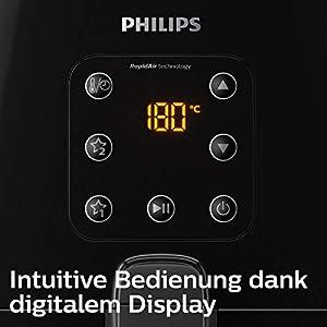 Philips HD9260/90 Airfryer XL – Das Original (Heißluftfritteuse, 1900 W, für 3-4 Personen, 1200 g Kapazität, digitales Display) schwarz
