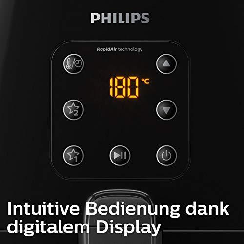 Philips HD9260/90 Airfryer XL – Das Original (Heißluftfritteuse, 1900 W, für 3-4 Personen, 1200 g Kapazität, digitales Display) schwarz - 6
