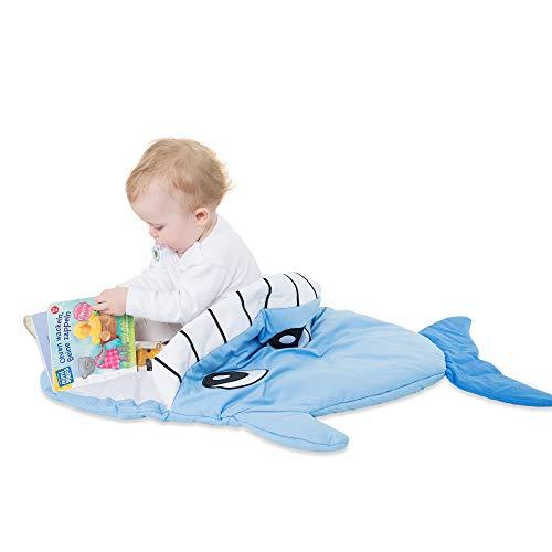 all Kids United Kinderschlafsack aus Baumwoll Strampler Fußsack für Mädchen und Jungen 85 x 70 x 6 cm - Wal Wintersack & Kinderwagen Pucksack für kleine Kinder