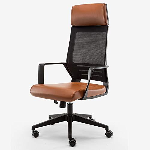 Qi Peng-//Chaise pivotante-Ordinateur Chaise Chaise de Bureau à Domicile Moderne Minimaliste Chaise de Jeu Ascenseur Chaise pivotante Chaise Ergonomique siège arrière Chaise pivotante (Couleur : A)