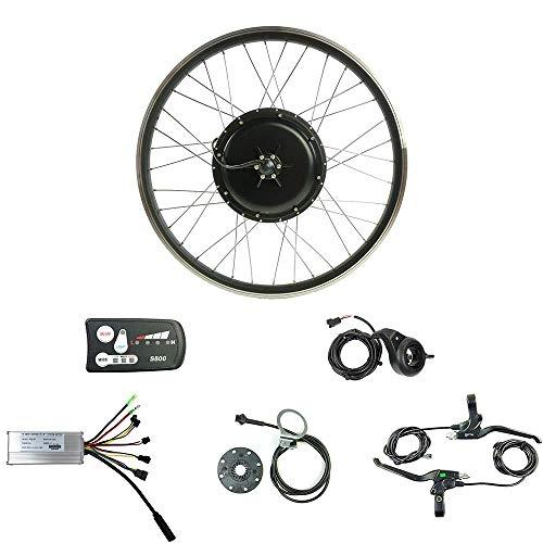 SCHUCK 36V500W Ebike Conversion Kit, 26inch Rear Wheel Hub Motor LEDS800 Display