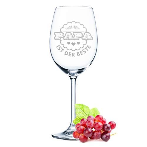 Leonardo - Copa de vino con grabado Papa ist der Beste Geschenk para papá, cumpleaños, regalo de cumpleaños, copa de vino tinto